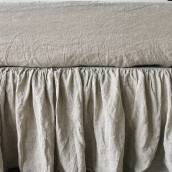 NATURAL GREY Pure Linen fitted sheet