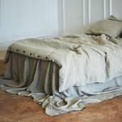 NATURAL GREY Pure Linen flat sheet