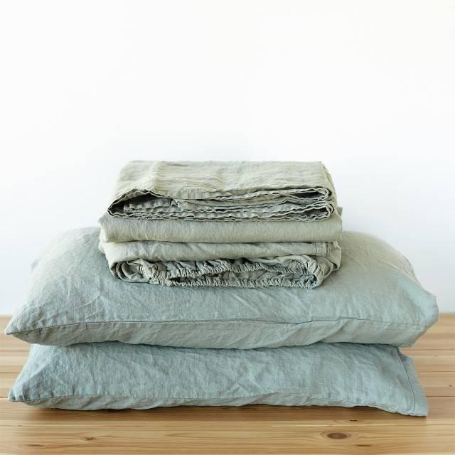 LINEN SHEET SET slip pillowcases