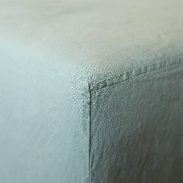 SAGE GREEN Linen fitted sheet