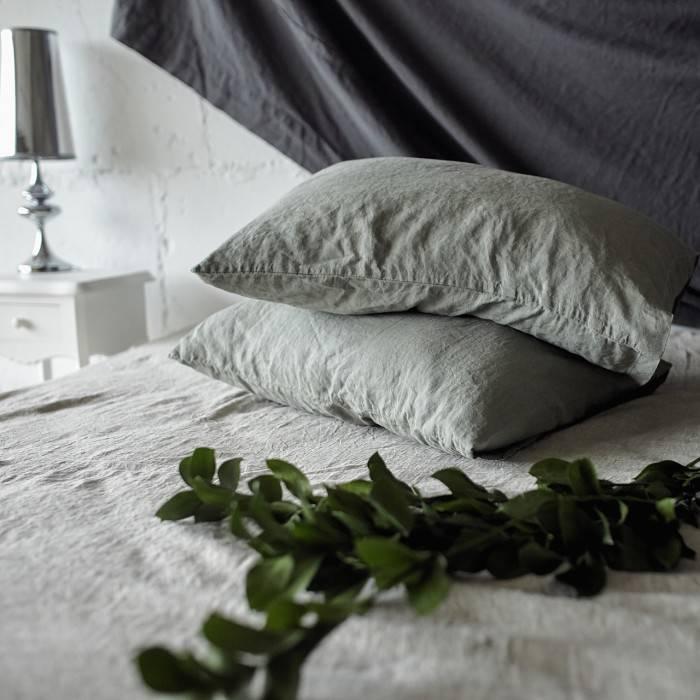 SAGE GREEN Linen pillowcase