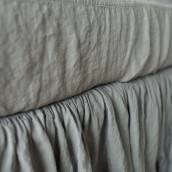 SAGE GREEN 100 Percent Flax Linen bed skirt
