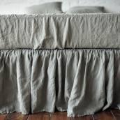SAGE GREEN 100 Percent Flax Linen fitted sheet