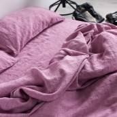 Linen duvet cover in beautiful WILD ORCHID