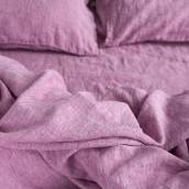 Linen pillowcase in beautiful WILD ORCHID