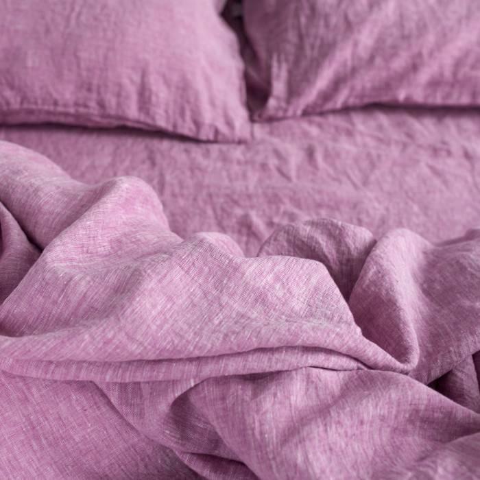 WILD ORCHID Linen duvet cover