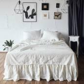 ANTIQUE WHITE 100 Percent Flax Linen flat sheet