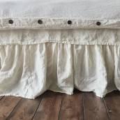 ANTIQUE WHITE Pure Linen duvet cover