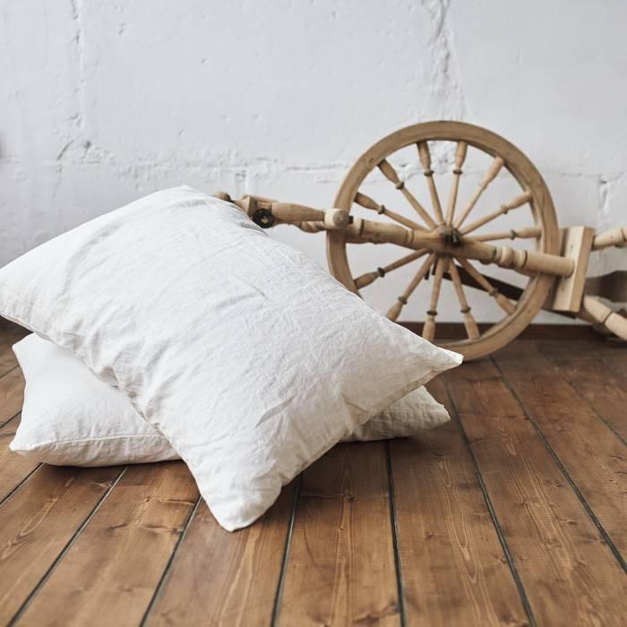 ANTIQUE WHITE Linen pillowcase