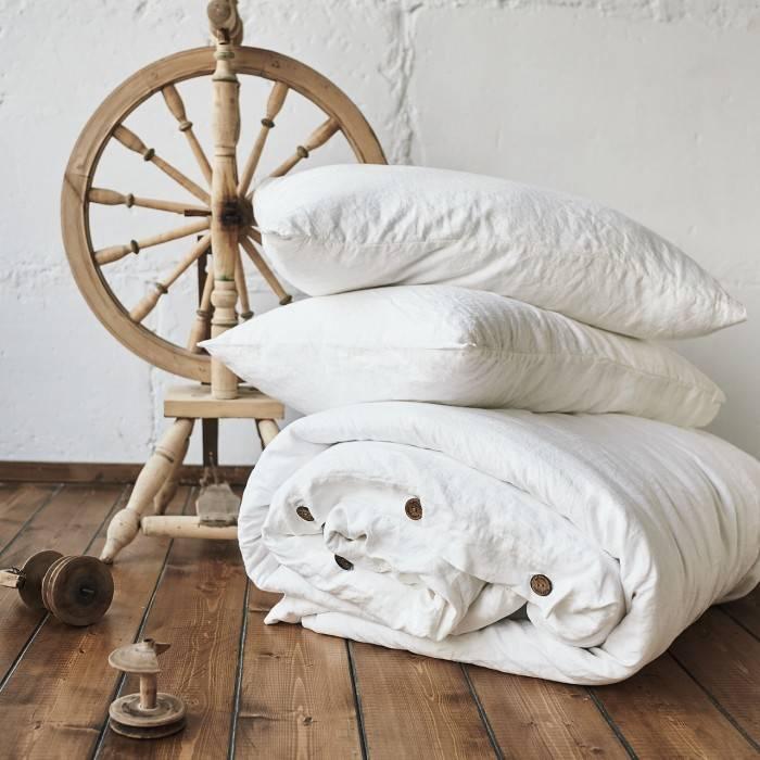 ANTIQUE WHITE Linen duvet cover