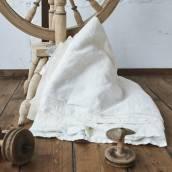 Linen flat sheet in beautiful ANTIQUE WHITE