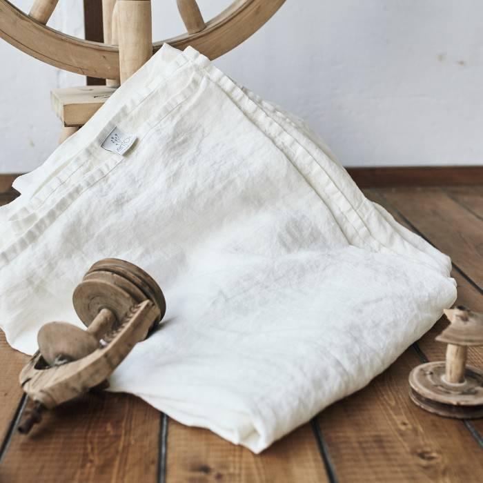 ANTIQUE WHITE Linen flat sheet