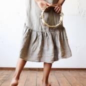 FLAX GRAY 100 Percent Flax Linen dress sleeveless
