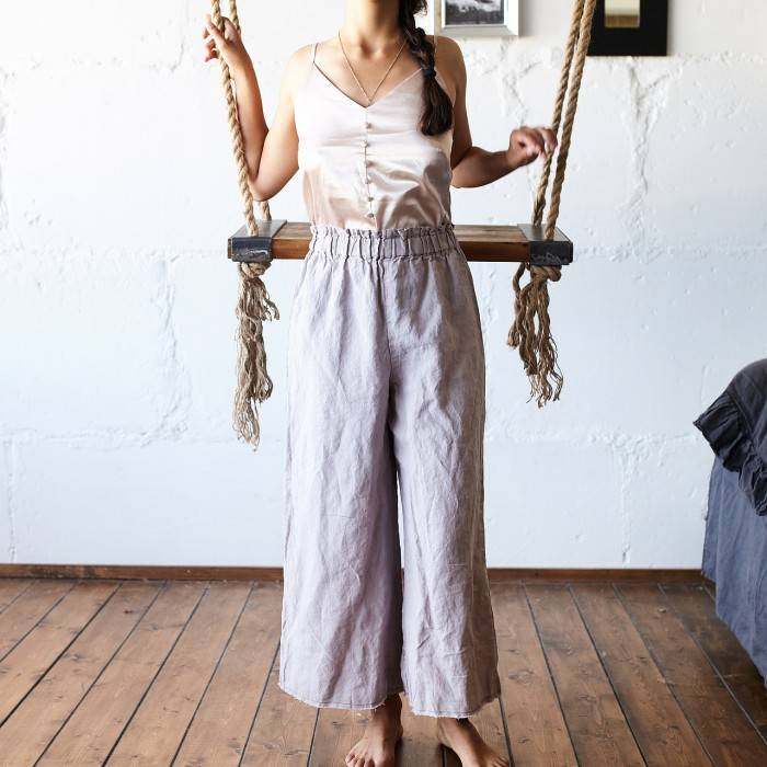 PINK ASH Linen culottes