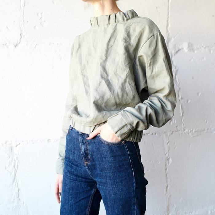 SAGE GREEN Linen sweatshirt