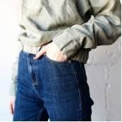 SAGE GREEN 100 Percent Flax Linen sweatshirt