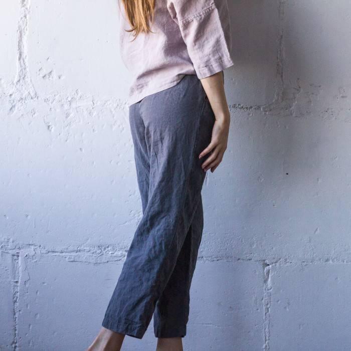 LINEN PANTS straight