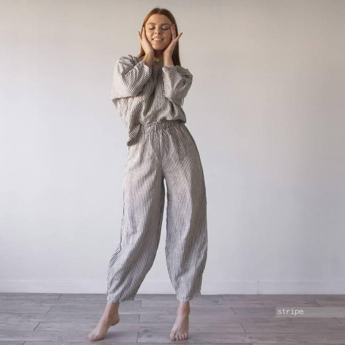 LINEN PANTS harem model