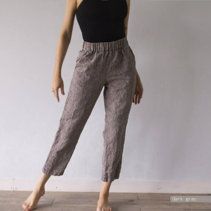 LINEN PANTS trousers