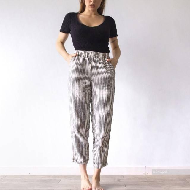 LINEN PANTS trousers
