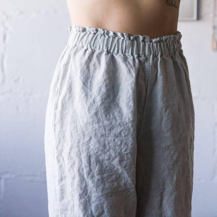 LINEN PAJAMA ruffle top and culottes
