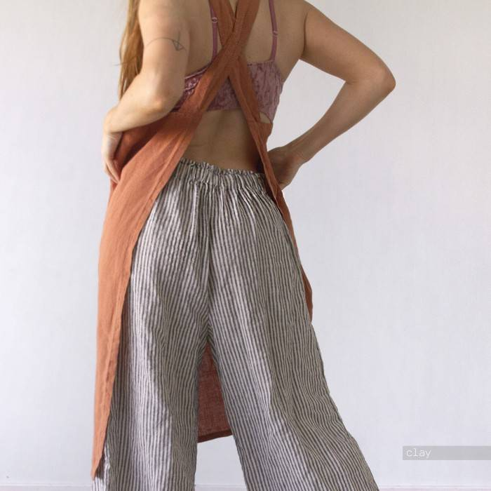 LINEN APRON cross-back