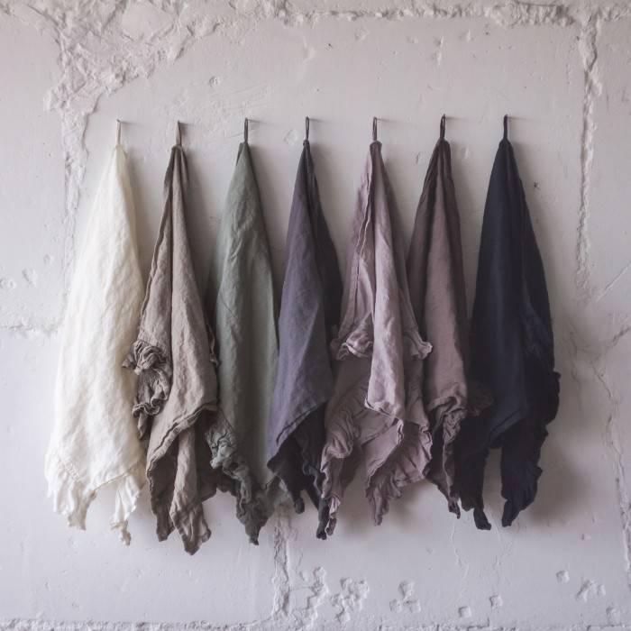 FLAX GRAY Linen napkin