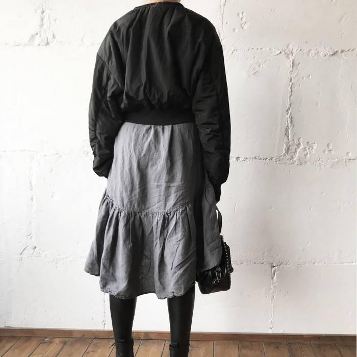 LINEN DRESS with sleeves