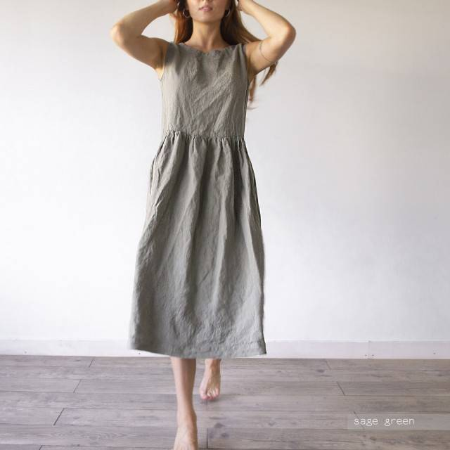 LINEN DRESS tulpan dress