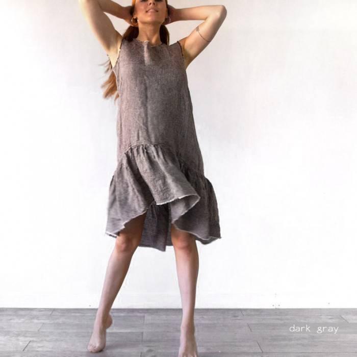 LINEN DRESS  sleeveless