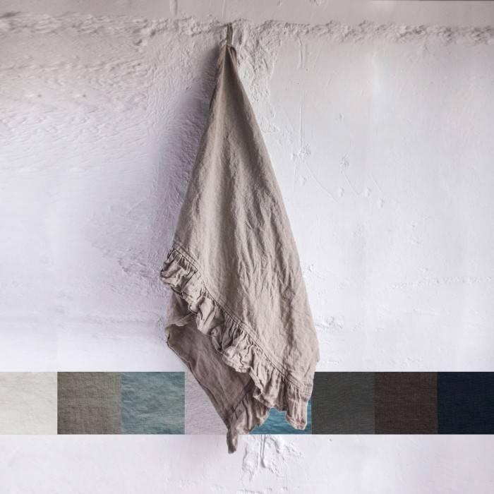 FLAX GRAY Linen towel