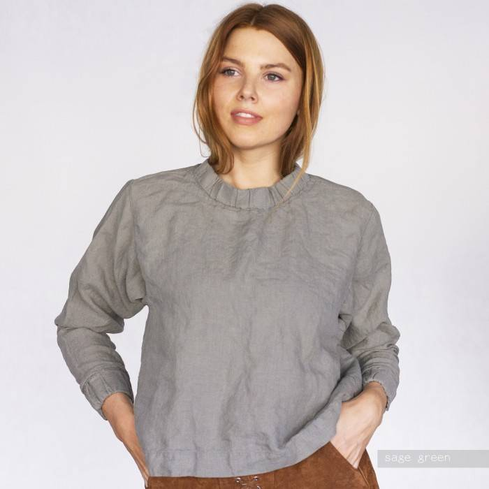 LINEN TOP  sweatshirt