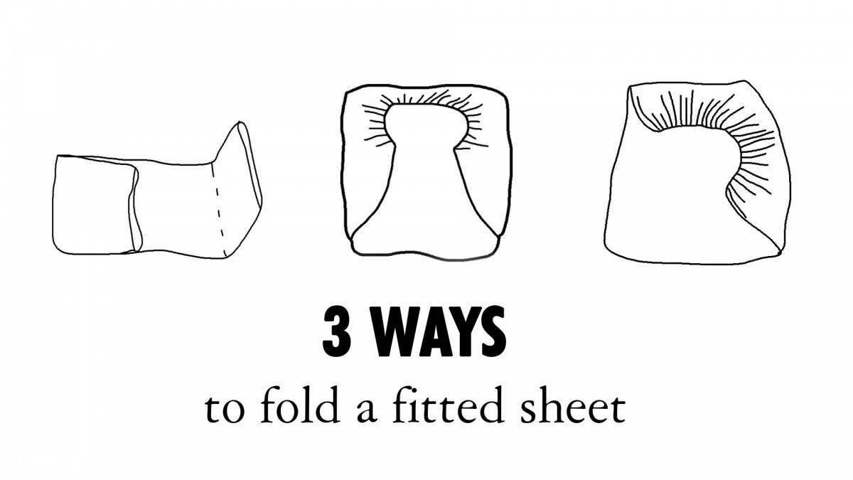 Fold a fitted sheet as Mari Kondo