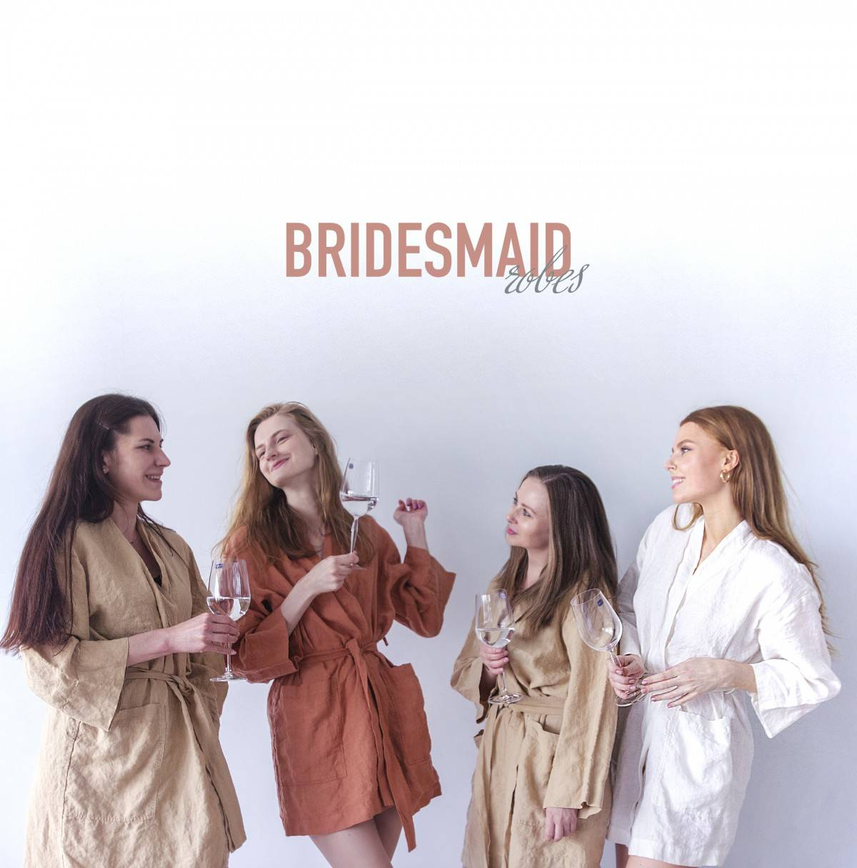 Bridesmaid party in ROBES!
