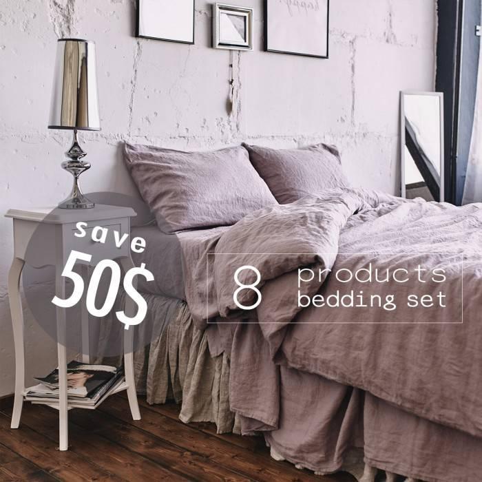 PINK ASH Linen bed in bag