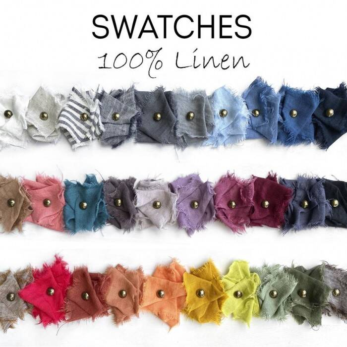 SWATCHES Swatches of linen fabrics